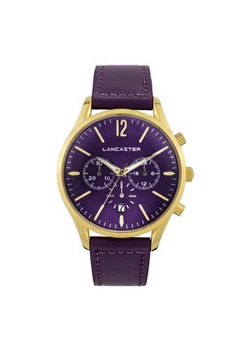 Lancaster Paris purple and gold Heritage Chronograph LA452AC0GA1ZSG_1