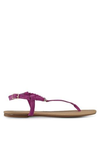 Rubi 粉紅色 編織夾腳涼鞋 8113DSH5DB4CF6GS_1