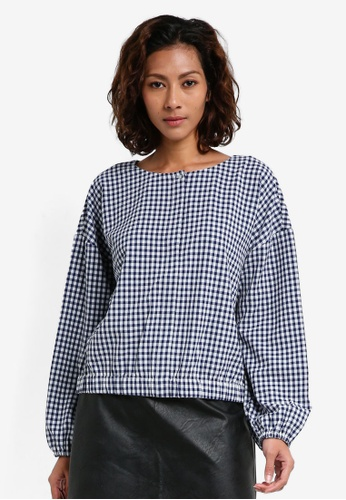 ESPRIT grey Woven Long Sleeve Blouse F3F12AA60751EDGS_1