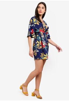 5a95c7c475 ZALORA Self Tie Kimono Dress RM 95.00. Sizes XS S M L XL