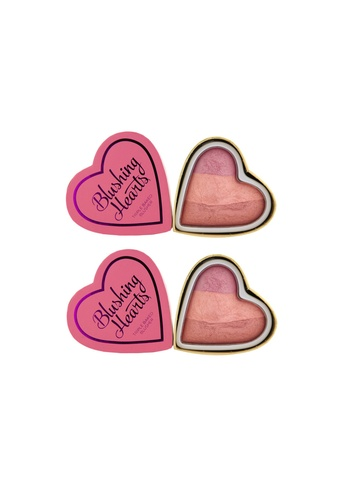 Makeup Revolution Besties Pack: Blushing Hearts Triple Baked Blusher in Candy Queen of Hearts MA670BE85RRISG_1