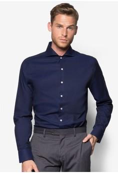 Slim-Fit Tailored Mao Collar Shirt
