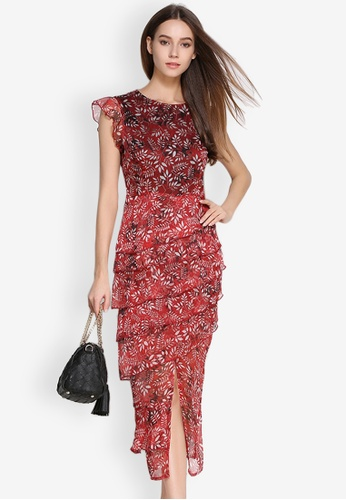 bcb3057bc6 Sunnydaysweety multi Slim Cut Floral Short Sleeves One Piece Dress  SU042AA68MOHPH_1