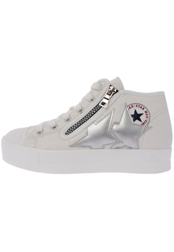 Maxstar C5 6Holes Synthetic Leather White Platform Canvas Sneakers US Women Size MA168SH06DKRHK_1