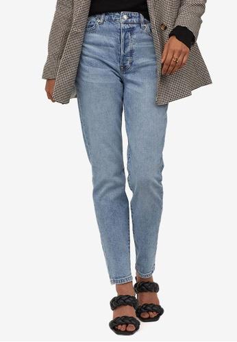 H&M blue Mom High Ankle Jeans 7D5EEAAE3A725DGS_1