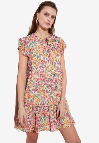 Trendyol multi Floral Print Ruffle Dress 052D0AAAAD0D7CGS_1