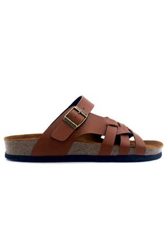 SoleSimple 褐色 Istanbul - 駱駝色 百搭/搭帶 軟木涼鞋 5CB9ESH9DD3BA6GS_1
