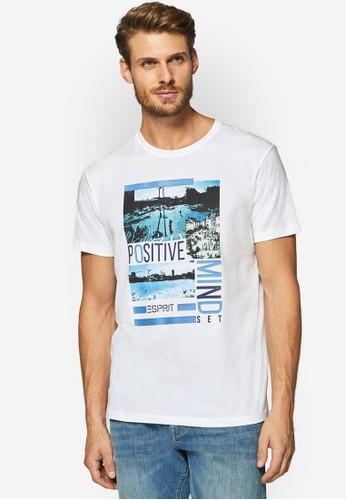 ESPRIT white Short Sleeve Photo Print T-Shirt DEA8DAACE1A1ABGS_1