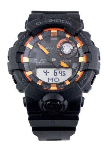 G-Shock black Casio G-SHOCK Jam Tangan Pria - Black Orange - Resin - GBA-800SF-1A 39B5EACEAF1A33GS_1