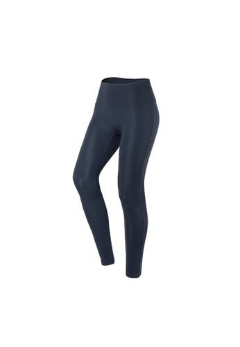 VIVIESTA SPORT blue Plain Flattering High Waist Gym Leggings BD559AA01F8236GS_1