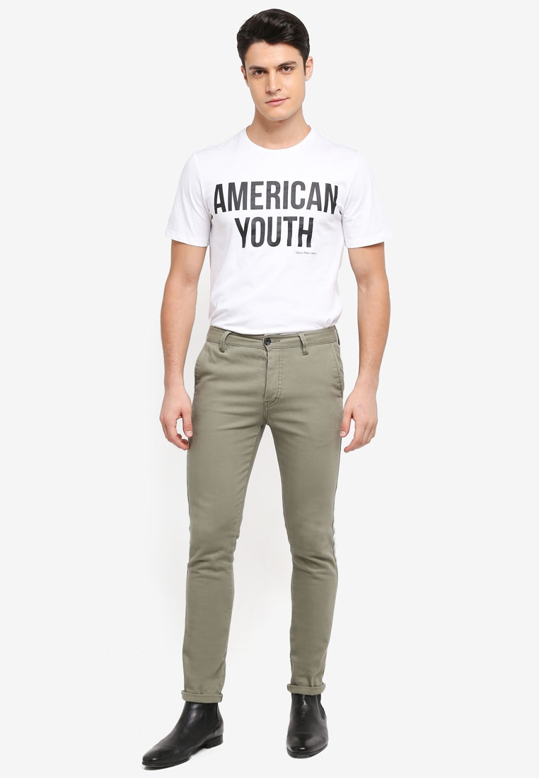 Calvin Telmo Regular Klein Jeans Bright Calvin Klein White Tee EnEzTxwr
