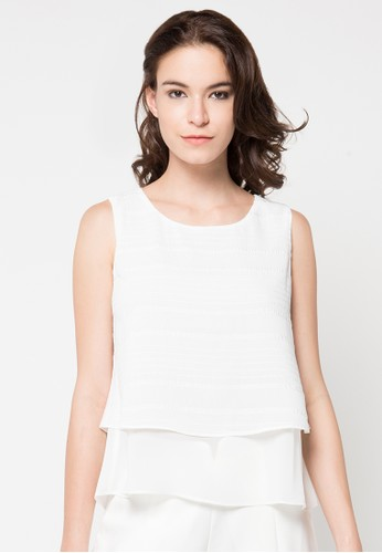 WHITEMODE white Chanel Blouse WH193AA77REKID_1