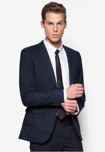 暗紋esprit hk store修身西裝外套, 服飾, 西裝外套