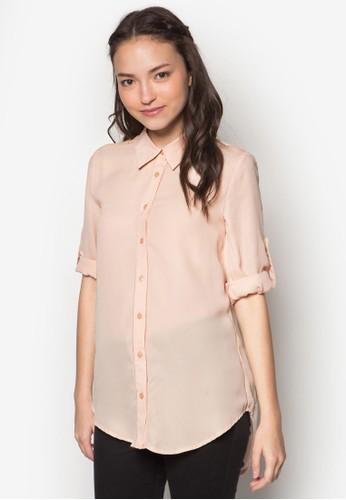 簡約長袖襯衫, esprit outlet 台灣服飾, 服飾