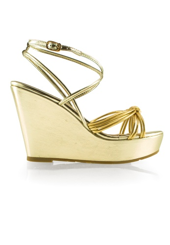 Gripz gold Alisa Open Toe Strappy Wedges GR357SH86PDLSG_1