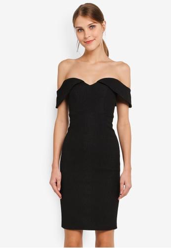 Bardot black Eva Snake Dress BA332AA0SKTSMY_1
