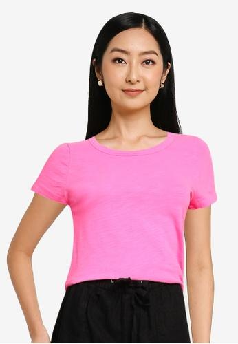 GAP pink Short Sleeve Foreversoft Crew T-shirt 2E940AADF93202GS_1