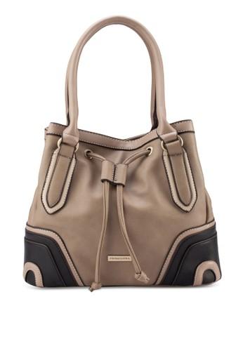 Paige 拼esprit暢貨中心色束口手提包, 包, 手提包