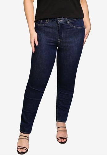 Violeta by MANGO 藍色 大尺碼 修身牛仔褲 FEC43AA36975D1GS_1