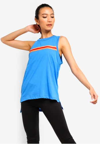 Cotton On Body blue Jersey High Neck Tank Top D5B90AA1BE1404GS_1