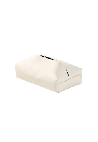 DILAS HOME PU Leather Tissue Paper Holder (White) E3A47HLD74C841GS_1