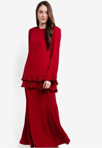 Butik Sireh Pinang red Karina Baju Kurung Modern BU003AA84SEXMY_1