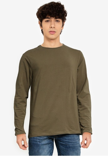 OVS brown Long-Sleeved T-Shirt 68825AAA7FCCB7GS_1