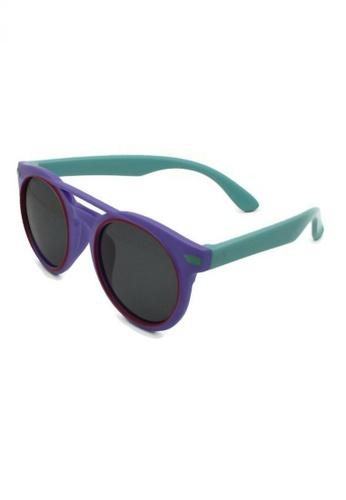 jojo purple Retro Double Bridge Polarized Sunglasses 120BDKC99926F7GS_1