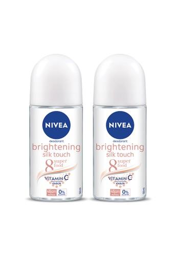 Nivea n/a NIVEA Deodorant Whitening Silk Touch Roll On 50ml - Twin Pack 48C99ES6352360GS_1