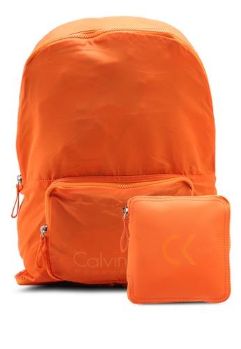 Calvin Klein yellow Packable Backpack - Calvin Klein Performance 49B30ACEE89035GS_1