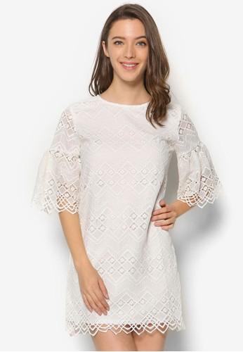 七分袖蕾絲連身裙, esprit 雨傘服飾, 洋裝
