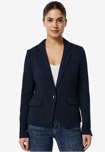 Vero Moda navy Long Sleeved Blazer D7B36AAD9985BAGS_1