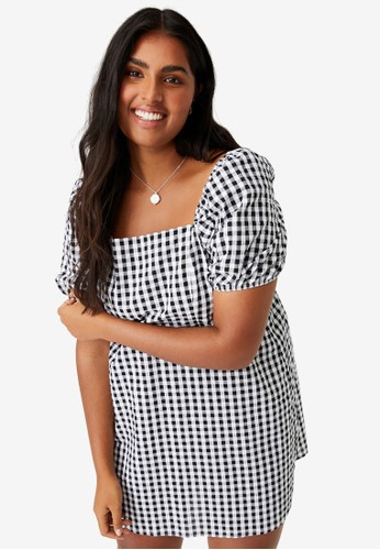 Cotton On black Plus Size Lylah Bell Sleeve Mini Dress 198B9AA02C2E82GS_1