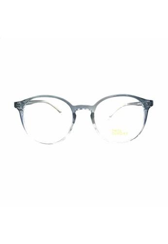 Ibrillen Optical blue HELLO SUNDAY 20315 Korean Style Anti UV Blue Glasses Blue Clear 12C4CGLF67A45EGS_1