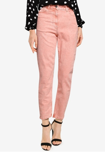 JACQUELINE DE YONG pink Windy Life High Straight Ankle Jeans EABB0AAAEB90A7GS_1