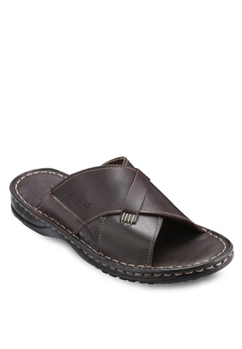 Clapton 仿皮esprit台灣門市交叉寬帶涼鞋, 鞋, 鞋