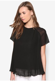 Collection Pleated Chiffon Top