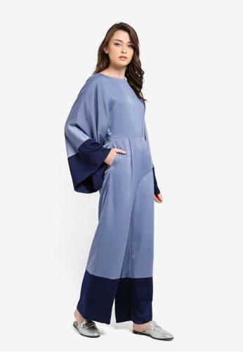 Zalia blue Colourblock Kaftan Jumpsuit D45EAAAA7C9CAEGS_1