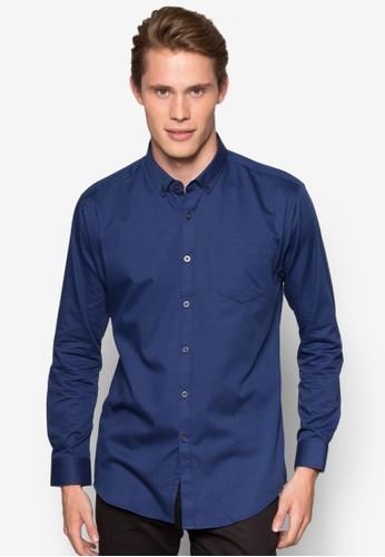 素色貼身長袖esprit 台北襯衫, 服飾, 襯衫