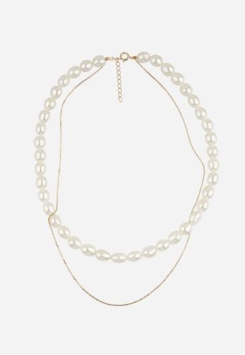 monojewelry THE CLASSIC PEARL-SILVER LAYERING CHOKER 5C25EAC8CF18C6GS_1