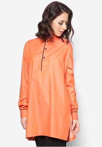 Aqeela Muslimah Wear orange Casual Kurta AQ371AA72FNVMY_1
