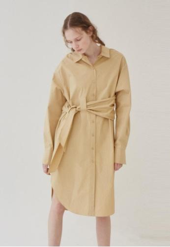 wnderkammer Wide-strap Shirt Dress WN055AA84MXVSG_1