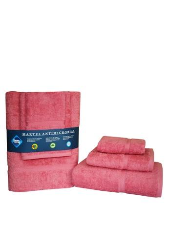 Martel pink Martel Sanitized Towel Set F4FB5HL3D135F3GS_1