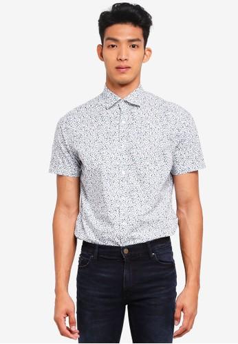 MANGO Man white Slim-Fit Floral Print Shirt 78D4DAA2323CE3GS_1