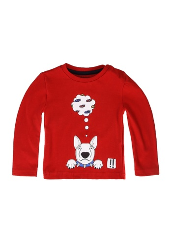 Babybol red Bull Terrier T-Shirt 52BCEKAA61DB79GS_1