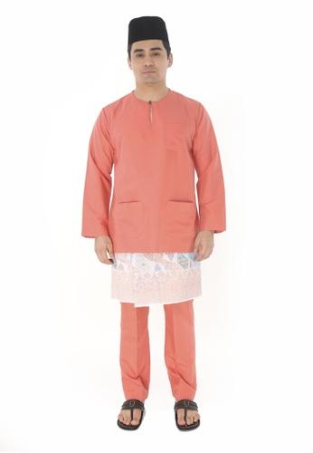 Amar Amran orange Baju Melayu Teluk Belanga 60CD8AA9B2B4BDGS_1