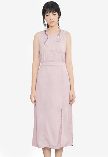 Kodz pink Buttoned Maxi Dress 83E86AAB9CA1F9GS_1