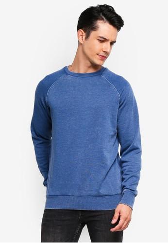 Brave Soul blue Crew Neck Sweatshirt 95BD8AA1E4E5C1GS_1