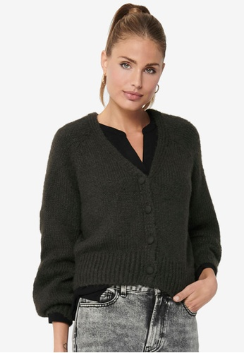 ONLY black Alyssa Long Sleeve Life Cardigan 8C88FAA9A961EFGS_1