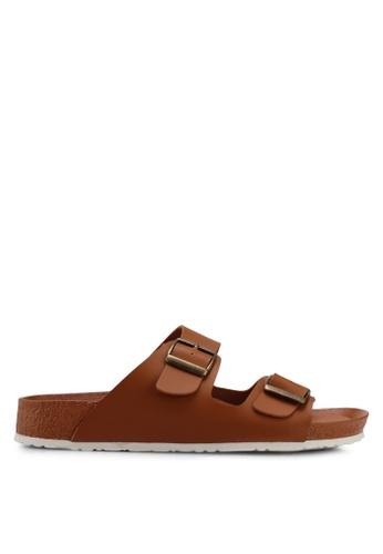 Bata 褐色 經典休閒涼鞋 285E1SH73D31AAGS_1